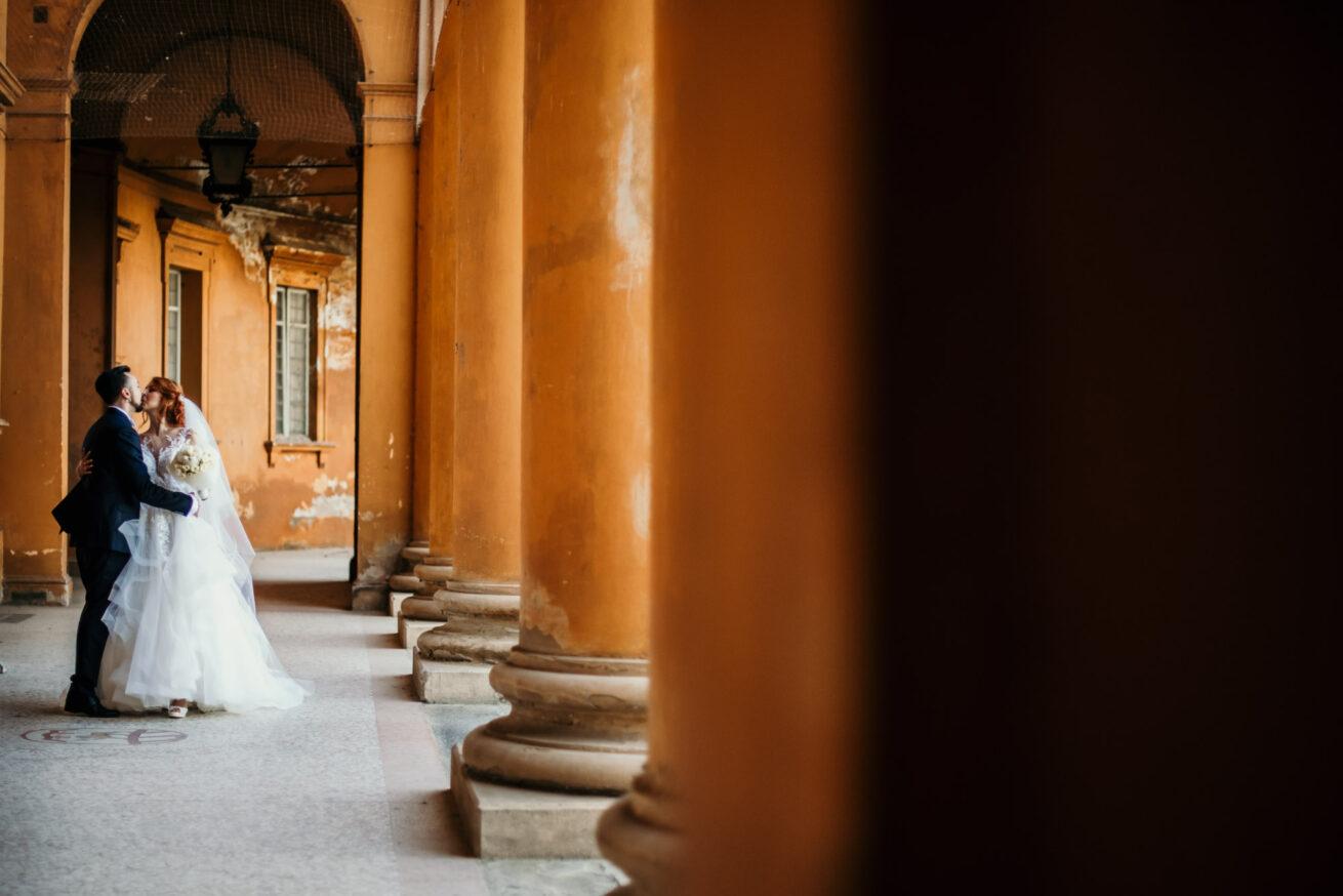 Matrimonio Bologna, foto sposi a Villa Mazzacorati