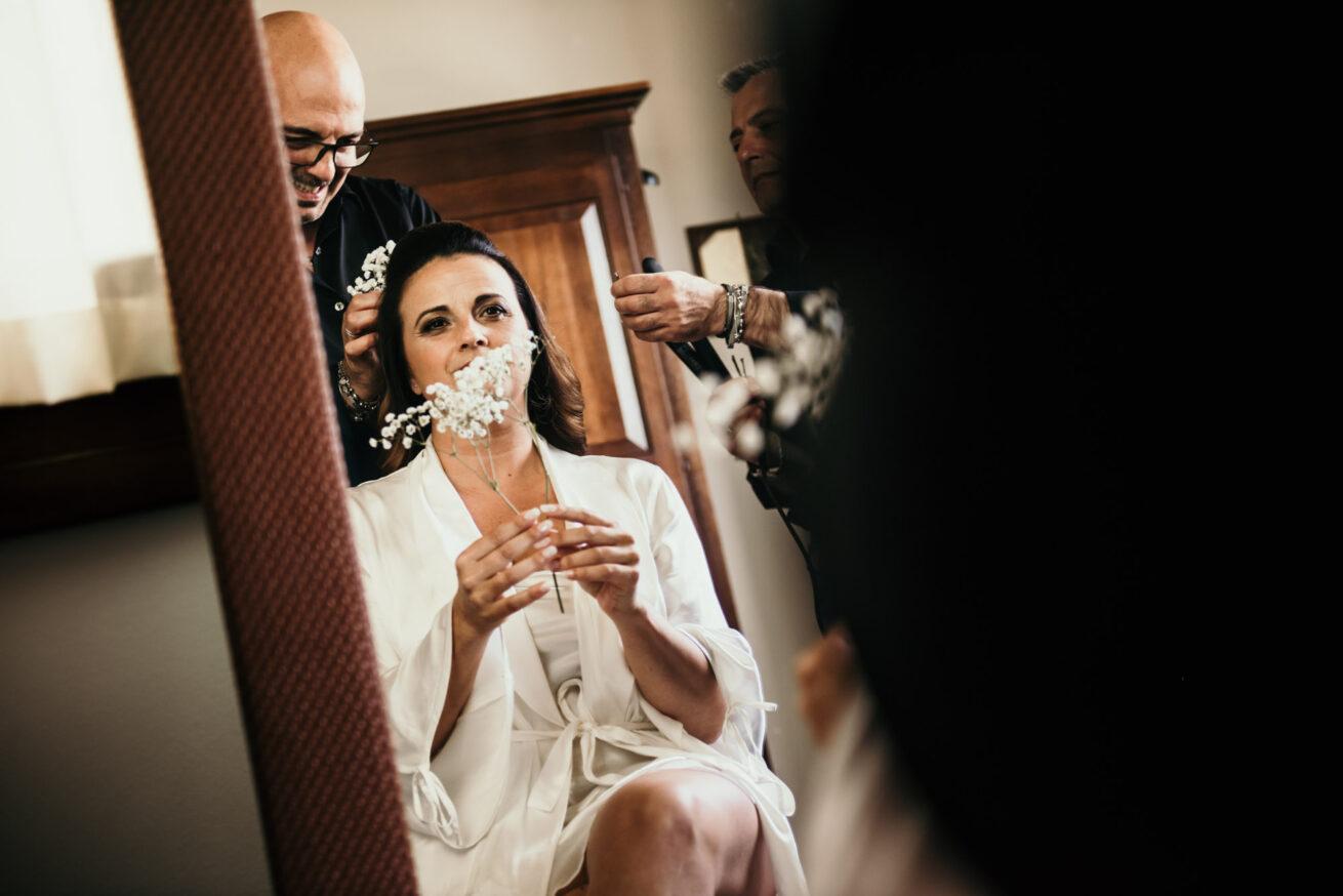 Matrimonio Rimini, preparazione sposa, parrucchiere