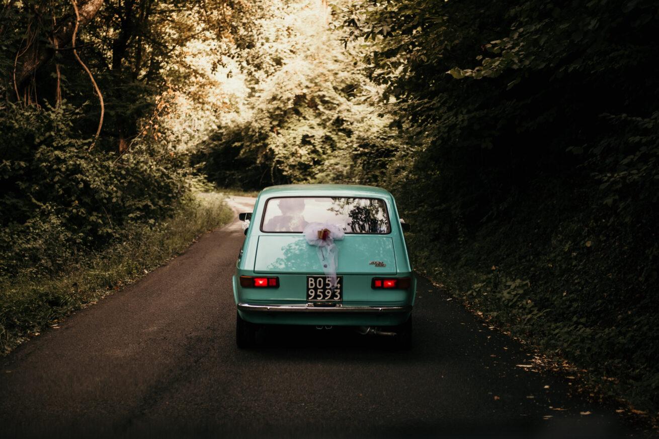Matrimonio Bologna, Auto d'epoca, Fiat 127 azzurra