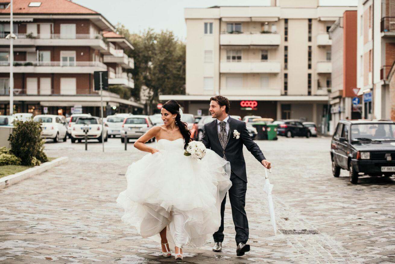 Matrimonio a Cesenatico, foto sposi
