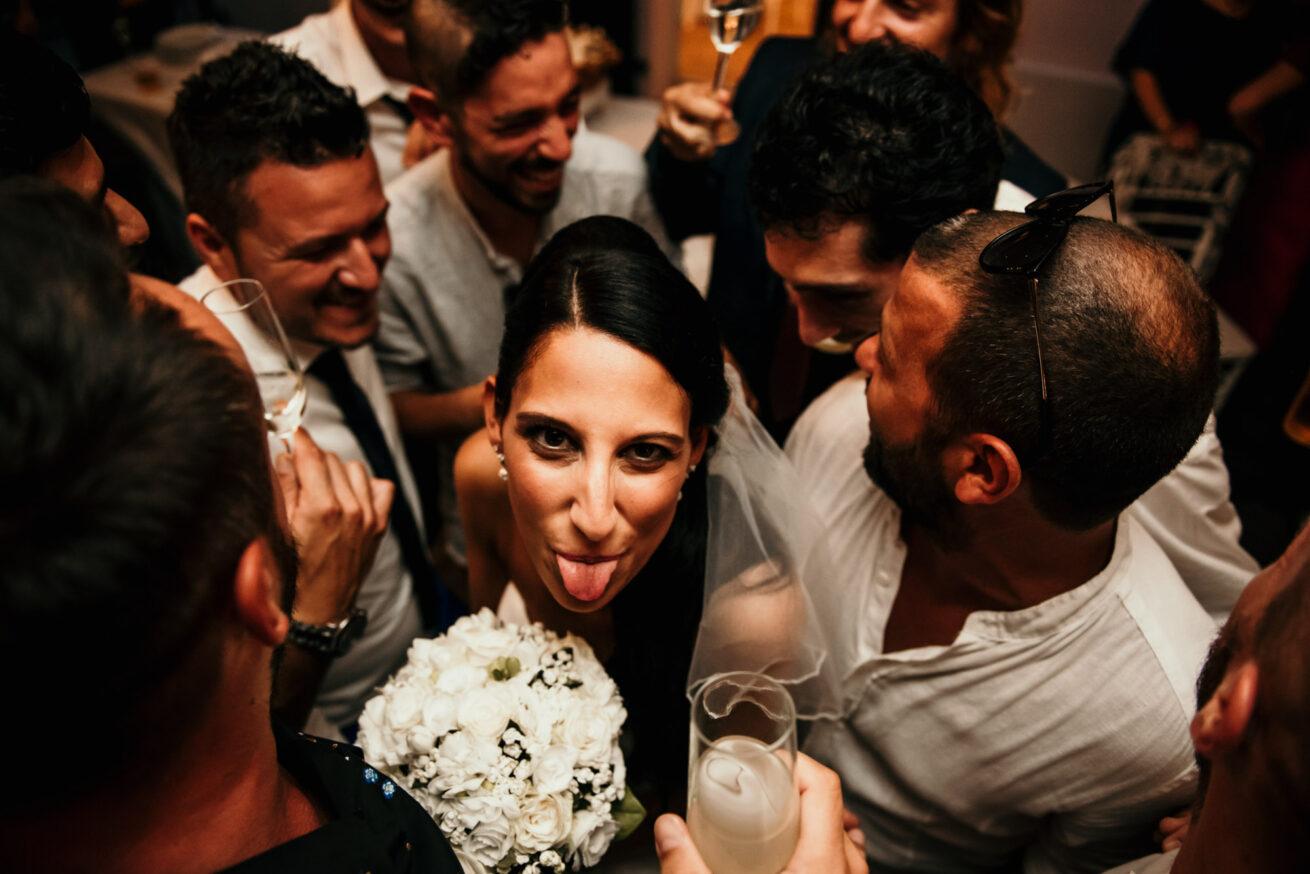 Matrimonio a Cesenatico, festeggiamenti con la sposa al ristorante l'Antico Casale Antico Casale