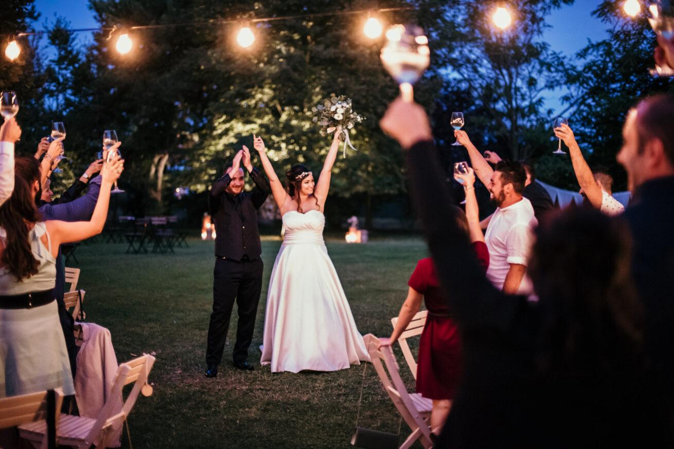 Matrimonio Forlì, festeggiamenti con gli sposi, location Casa Catani a Barisano