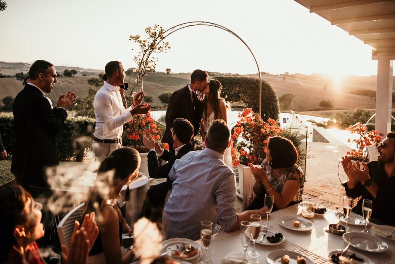 Matrimonio ad Ancona al tramonto, location di matrimonio Villa Honorata