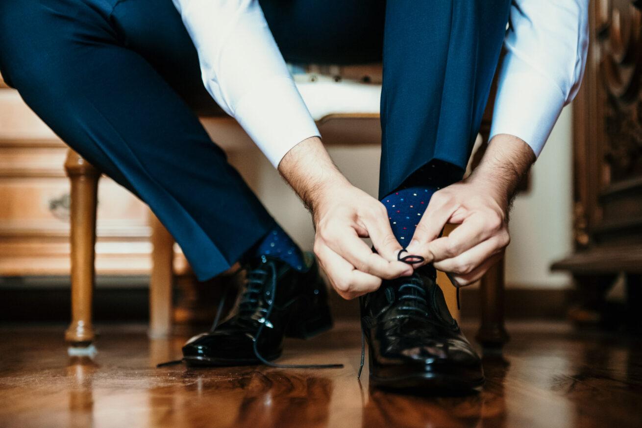 Matrimonio San Marino, preparazione sposo, scarpe sposo
