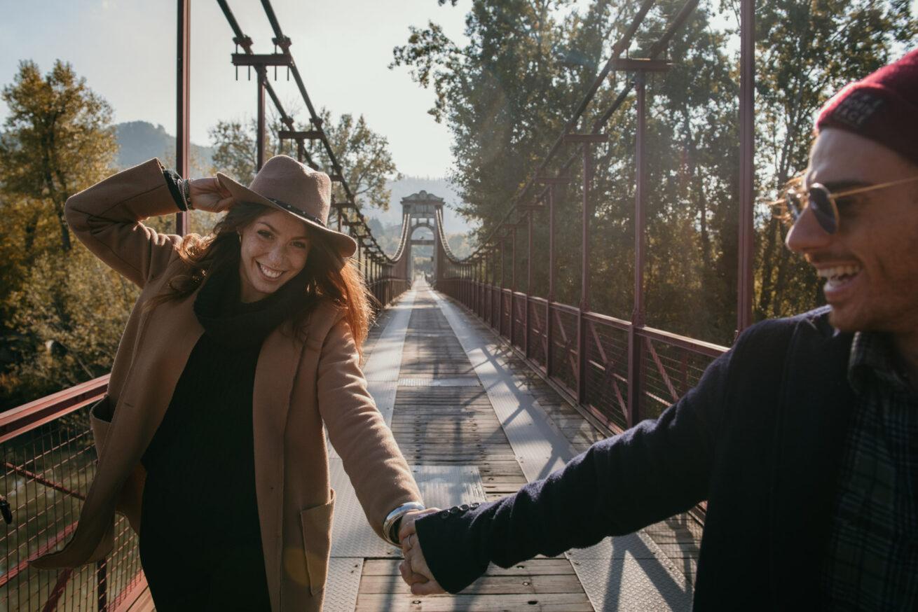 Engagement a Bologna in autunno sulle colline Bolognesi