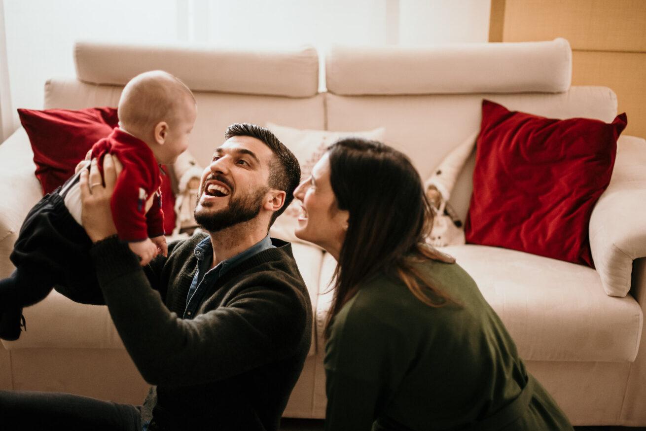Foto di famiglia a Bologna bambini