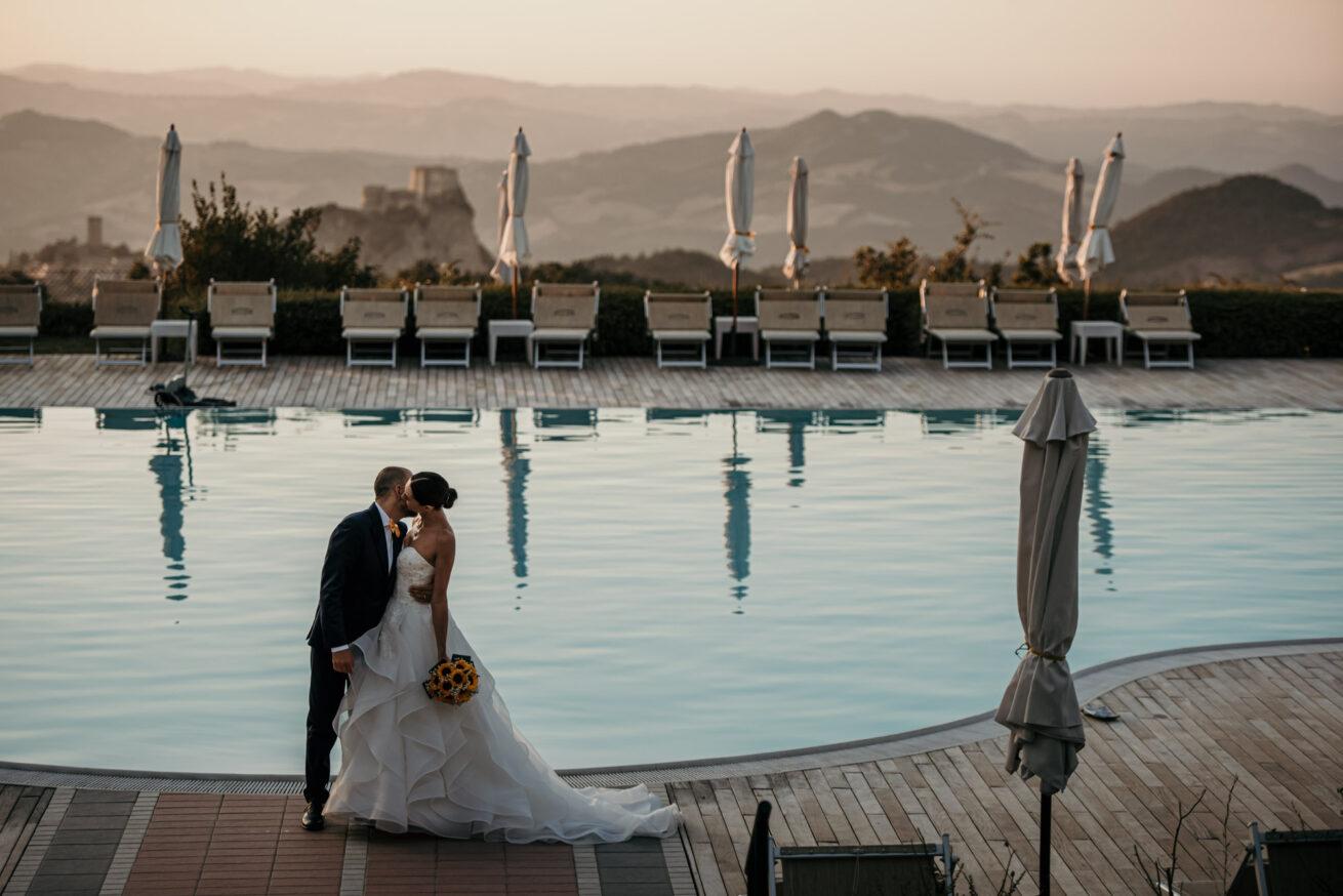 Matrimonio al tramonto a Rimini, Location Villa Labor