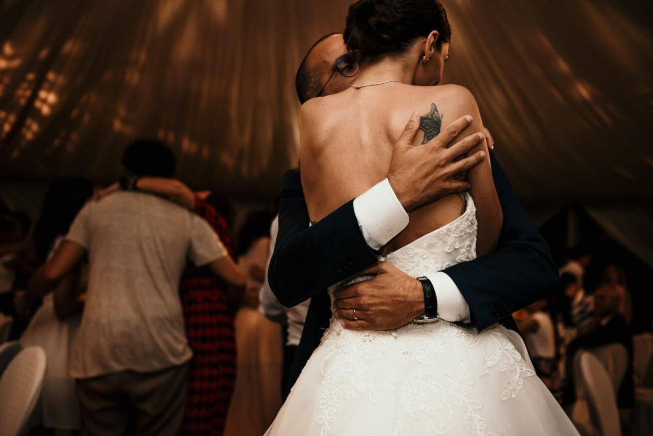 Matrimonio a Rimini, ballo degli sposi a Villa Labor, Montecopiolo