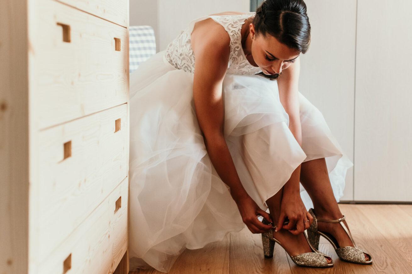 Scarpe sposa, preparazione Bologna