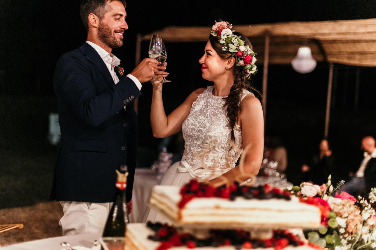 Matrimonio Bologna, brindisi sposi